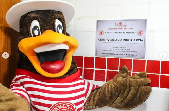 Centro Médico do Salgueiro é reformado na pandemia. Foto: Reprodução Instagram