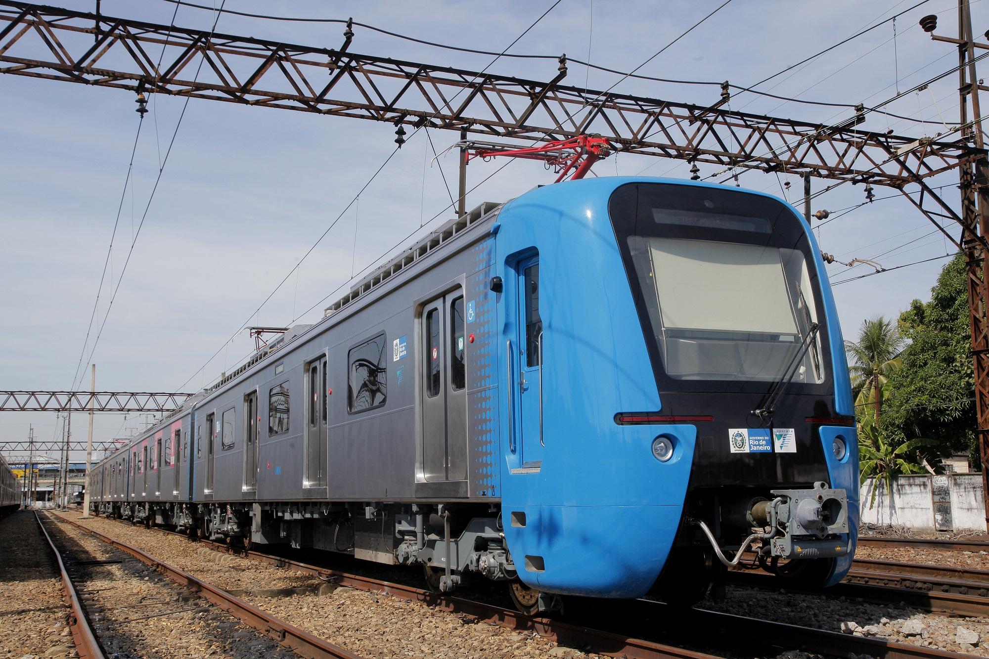 Imagem, do trem da SuperVia