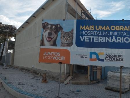 Obras do Hospital Veterinário de Duque de Caxias