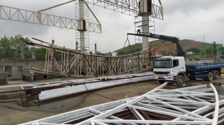 Ginásio está sendo construído em Duque de Caxias