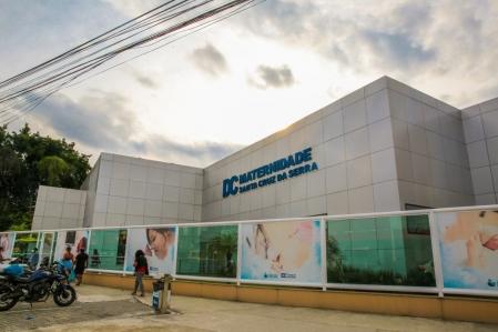 Fachada da Maternidade Municipal de Santa Cruz da Serra
