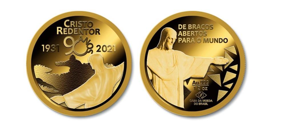 Medalha em celebração aos 90 anos do Cristo Redentor
