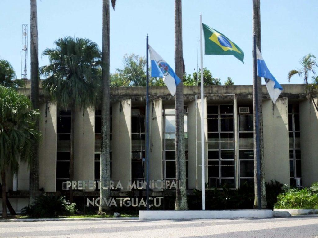 Fachada da Prefeitura de Nova Iguaçu, na Baixada Fluminense