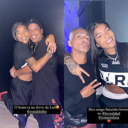 Ludmilla faz festa em casa com presença de famosos como Ronaldinho e Romário