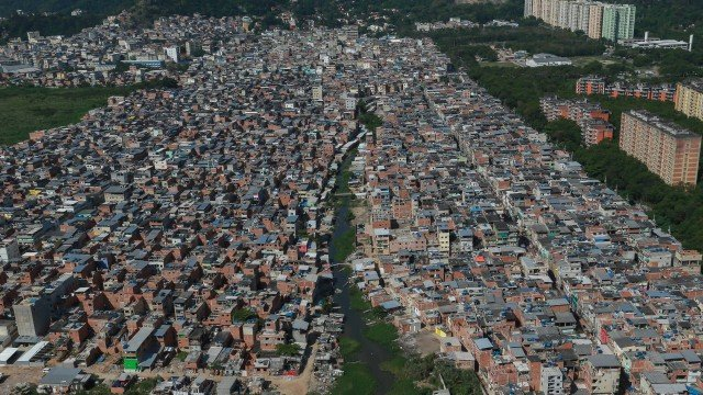 Vista aérea da comunidade Rio das Pedras
